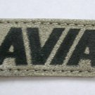 AVIA Gray & Black Rectangular Suede Patch