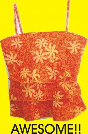 Girls Honua Spagetti Strap Orange Top - ADORABLE NWOT 13/14