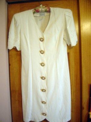 Jodi Michaels Womens Summer Dress Pearl Buttons GORGEOUS! sz 5