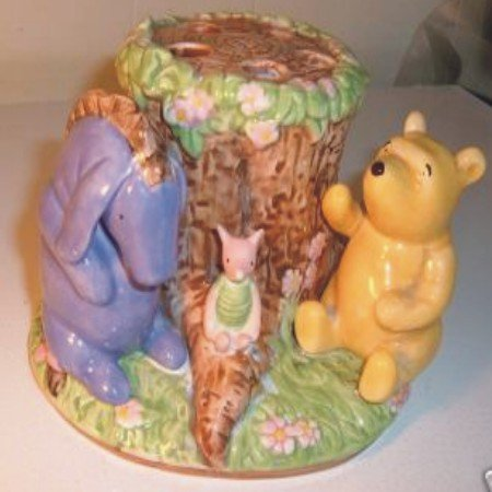Disney Winnie the Pooh, Piglet, Eeyore Collectable Ceramic Toothbrush Holder