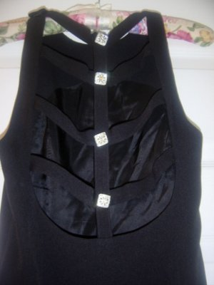 basic black dress with open back by LILI size 4 PRETTY