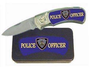 Police Knife in Metal Tin