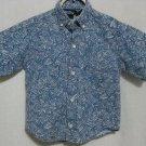 Boy's Bon Homme Blue Patterned Dress Shirt - Size 4T