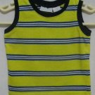 Boy's Yellow with Navy and White Tank Top - Size 24 months
