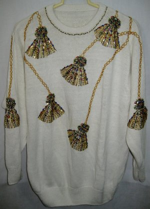 Women's Beaded Sweater - Size XL