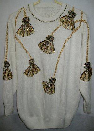 Women's Beaded Sweater - Size XL