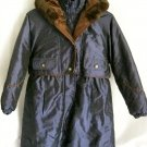 Girl's Hooded, Mid-Thigh Length Coat - Size 10/12