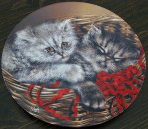 Emily & Elliott Cat Plate by The Bradford Exchange