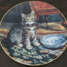 My Bowl is Empty Cat Plate by The Bradford Exchange