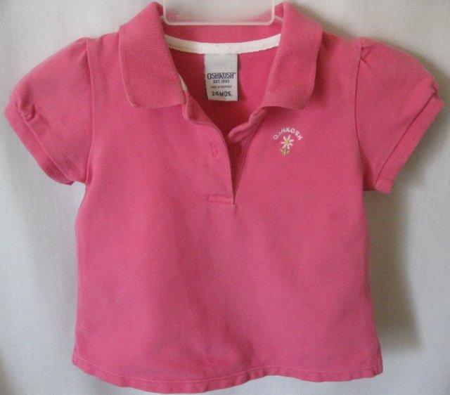 Girl's Pink Oshkosh Shirt - Size 24 months