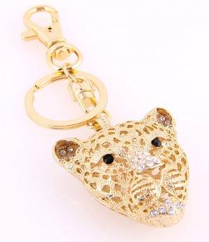 Leopard Head Key Chain