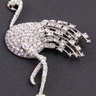 Ostrich Swarvoski Crystal Brooch