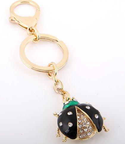 Black Lady Bug Key Chain