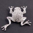Crystal Frog Brooch  (Free Shipping)