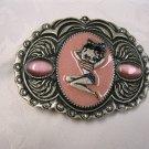 Pink Betty Boop Belt Buckle