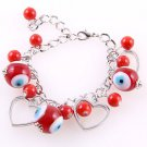 Red Acrylic Purse Charm Bracelet