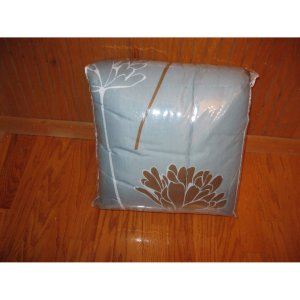 5 PC Queen Bed in a Bag Blue and Chocolate