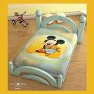 Mickey Mouse & Teddy Bear Crib Blanket, Licensed Disney