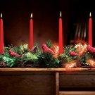 Christmas Lighted Table Candle Holder Center Piece