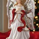 Elegant Silver Mosaic Wings Christmas Angel