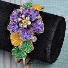 Hand Painted Swarovski Crystal Hinged Bracelet