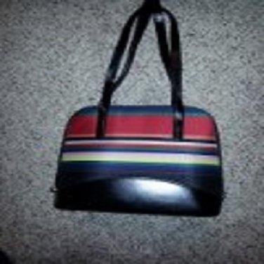 Multi-color Stripe Handbag