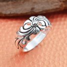 BNWOT ~ Unisex Stainless Steel Flower Ring, Multiple Sizes