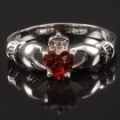 BNWOT ~ July Birthstone Claddagh Ring, Multile Sizes