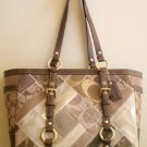 Coach Signature Mosaic Patchwork Gallery Tote