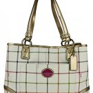 Coach Heritage Tattersall Shopper Tote
