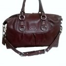 Coach Ashley Signature Perforated Leather Satchel, Chocolate Brown
