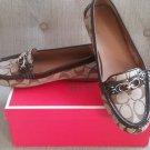 Coach Fortunata Patent Trim Loafers Sz 8