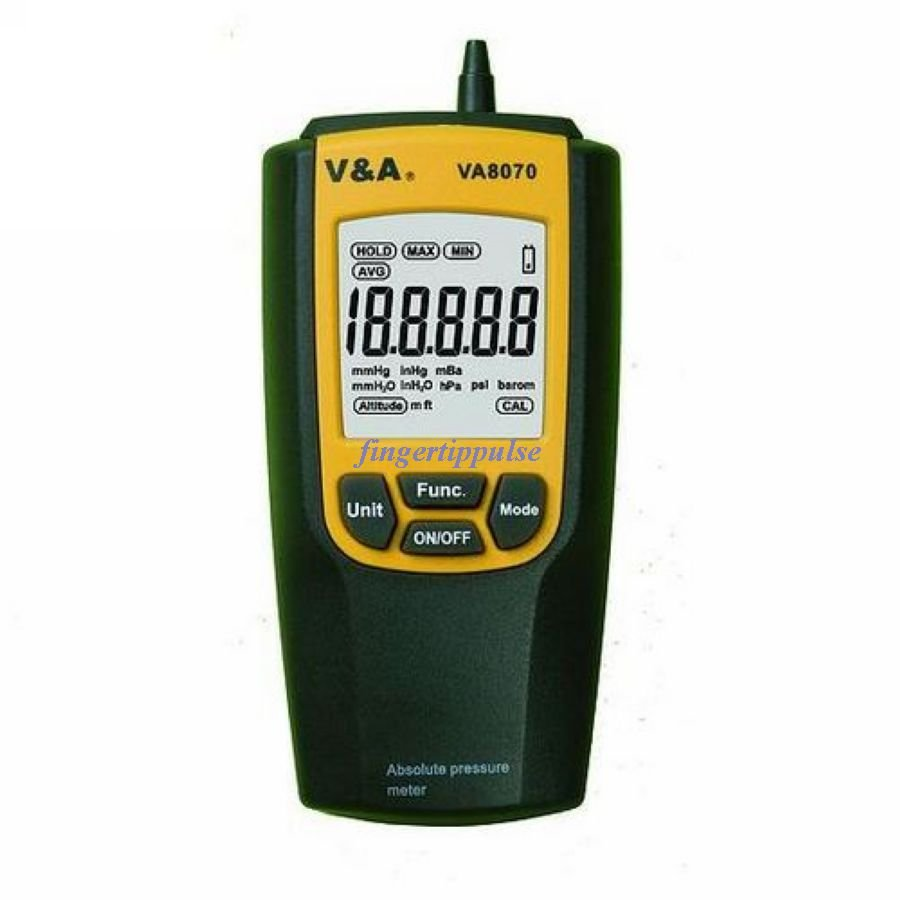 Absolute Pressure Meter with 8units Pa hPa mbar VA8070