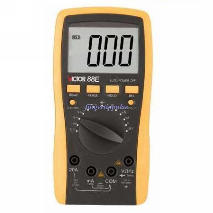 Digital Multimeter AC DC Ω MHz nF uF Hz � � VC8