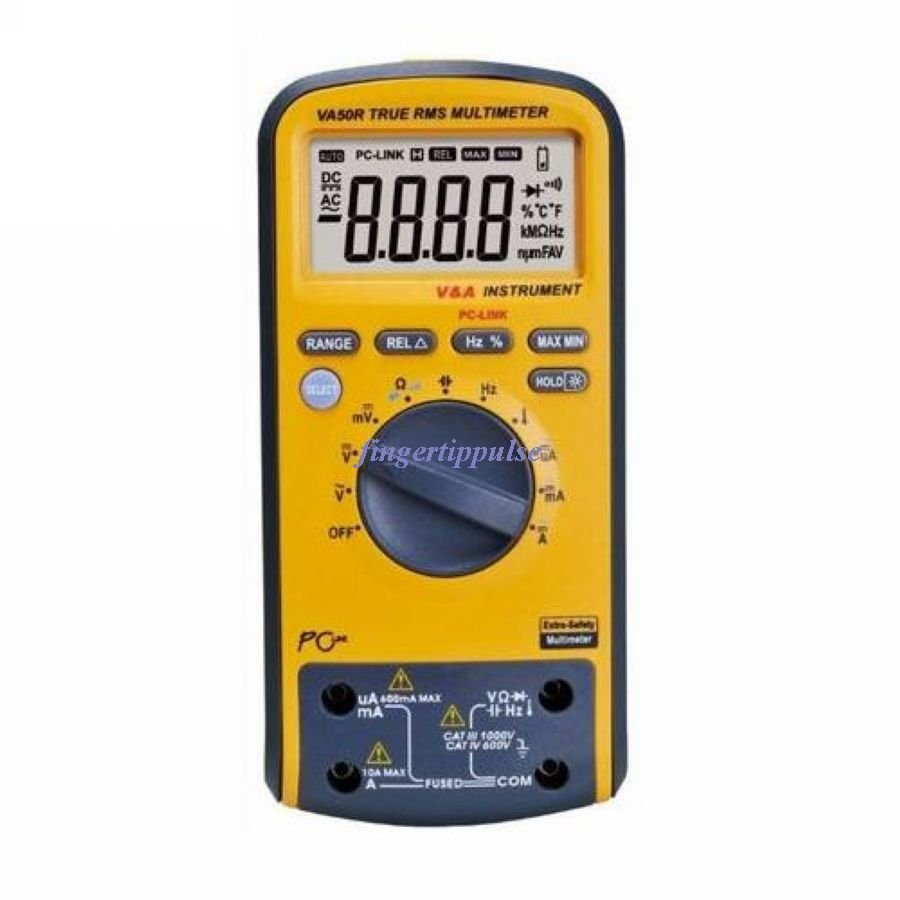 Duty Multimeter USB VA50 6K Counts DC AC Ω μF MHz KHz