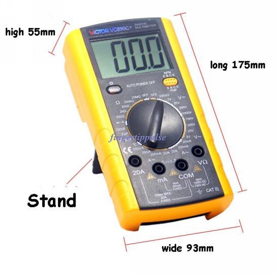 VICTOR VC890C+ Digital DMM Multimeter Ohm Voltmeter