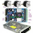 CNC Kit 3 Axis Driver 3A + NEMA 23 Stepper Motor+PSU