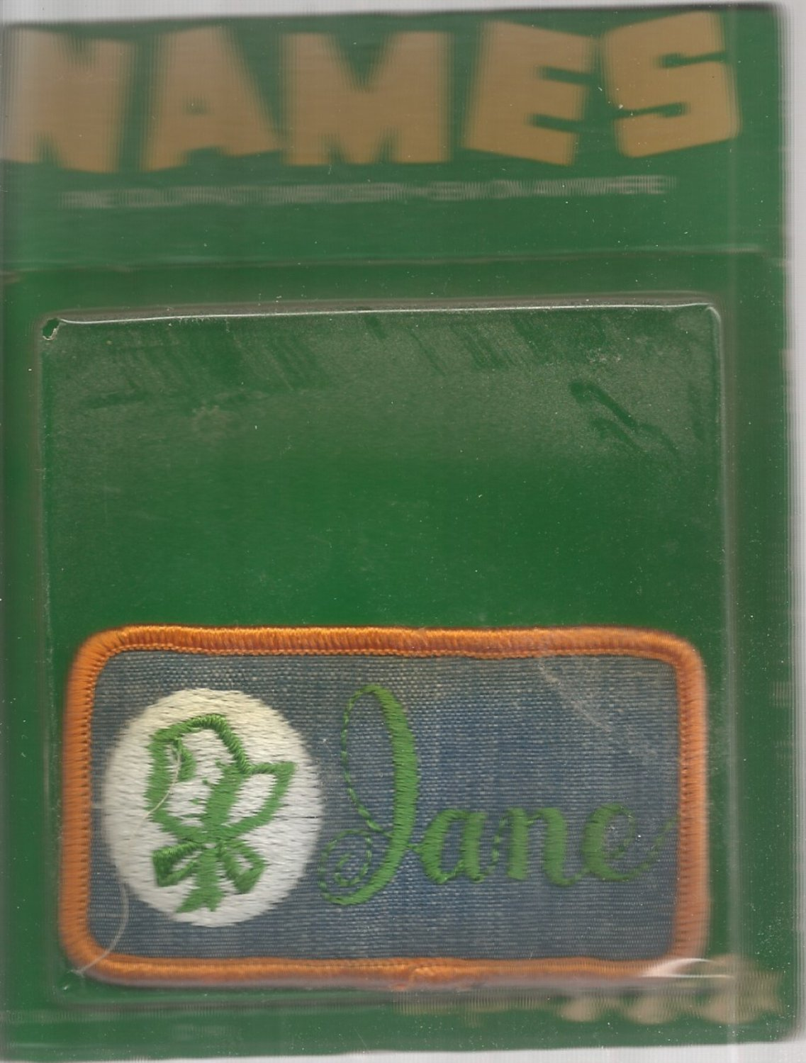 Name Embroidery sew on patch-  Jane- vintage 1973