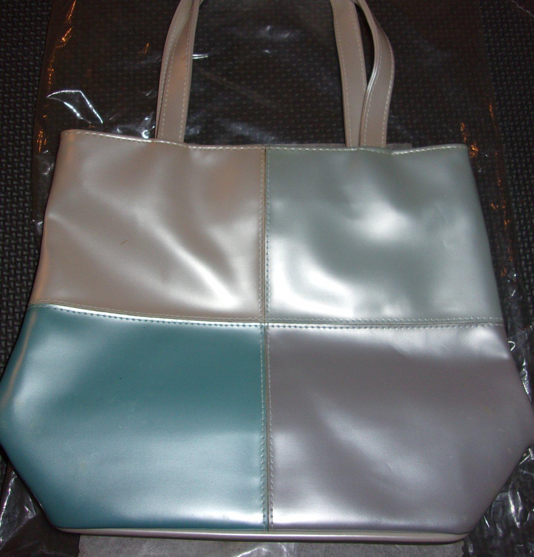 Avon Metallic pastel vinyl tote bag