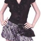 LAST ONE!! Cleo Satin Jennifer Lopez Zebra Harem Bubble Hem Shorts Fashion