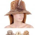 Herringbone Pattern Rosette Bucket Beach Hat Fashion