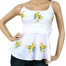 LAST ONE!!  Peplum Babydoll Flare Ruch Waist Blouse Shirt Top Fashion