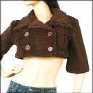 Faux Fur Double Breasted Crop Jacket Bolero Fashion