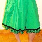 LAST ONE!!  Vintage Eyelet Ruffle Trim A Line Pocket Swing Full Skirt Fashion