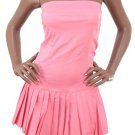 LAST ONE IN STOCK!! Strapless Pleated Skirt Fitted Tennis Style Dress Fashion