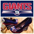 Custom New York Giants NFL Couture Bling Wedge Heel