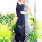 Lace Panel Insert Maxi Dress