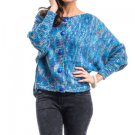 LAST ONE!! Wool Blend Sequin Accent Button Sweater Cardigan