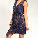 LAST ONE IN STOCK!! Sleeveless Floral Print Wrap Top Dress