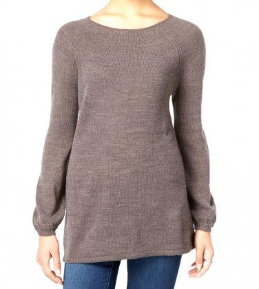 Petite Boat-Neck Swing Sweater